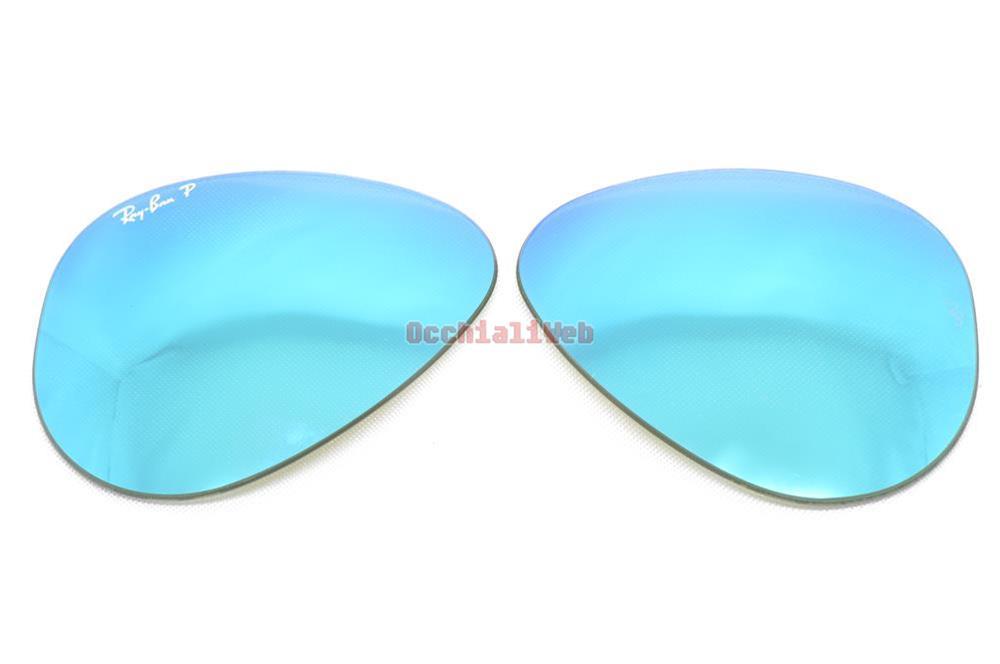 Lenti lens ray ban 3025 55 blu specchio polarizzate blue - Specchio polarizzato ...