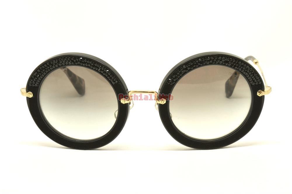 Miu Miu Sunglasses Round  miu miu smu 08r col 1ab 0a7 cal 49 new sunglasses ebay