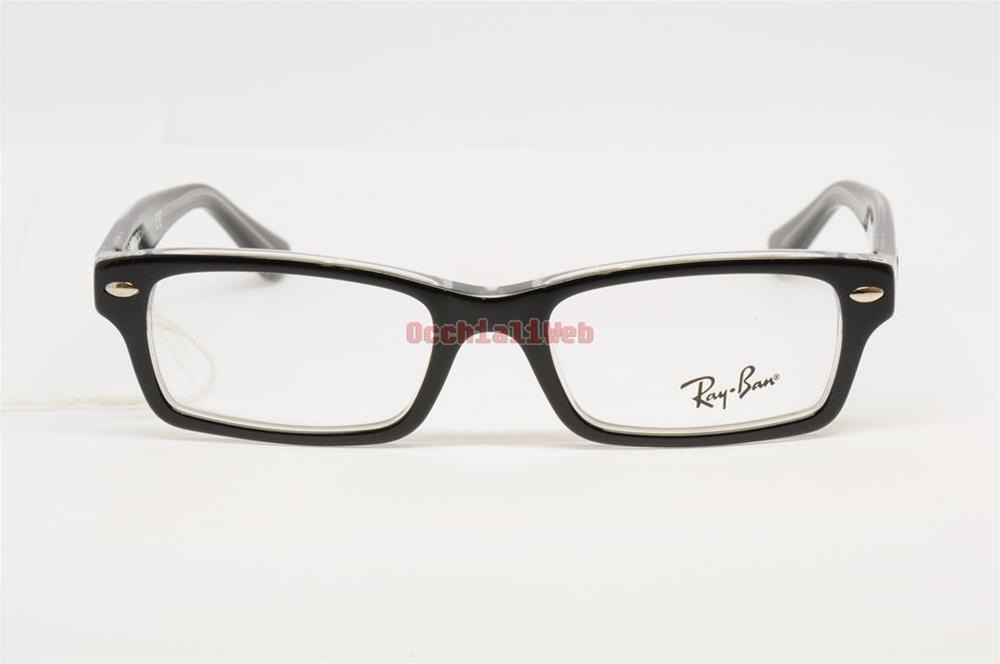 occhiali da vista ray ban neri e bianchi
