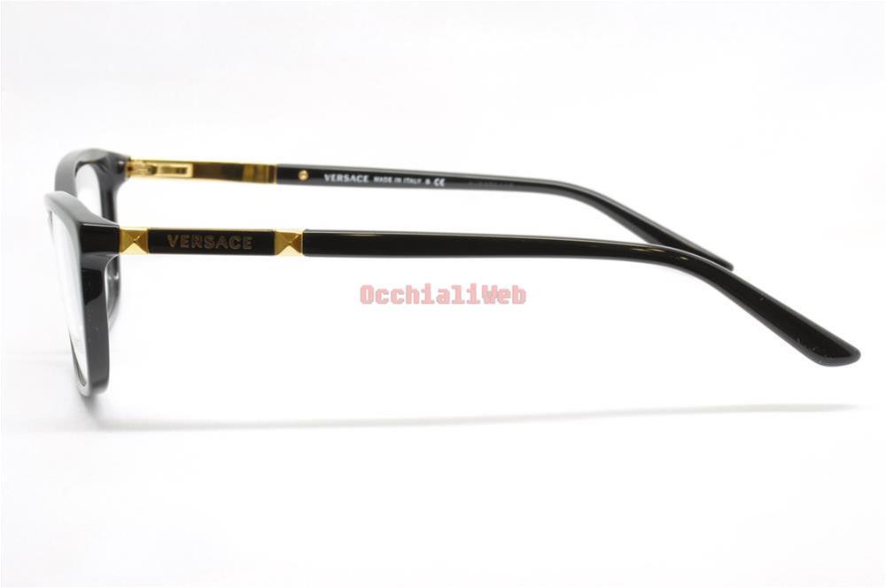 occhiali da vista eyeglasses versace col gb1 cal. Black Bedroom Furniture Sets. Home Design Ideas