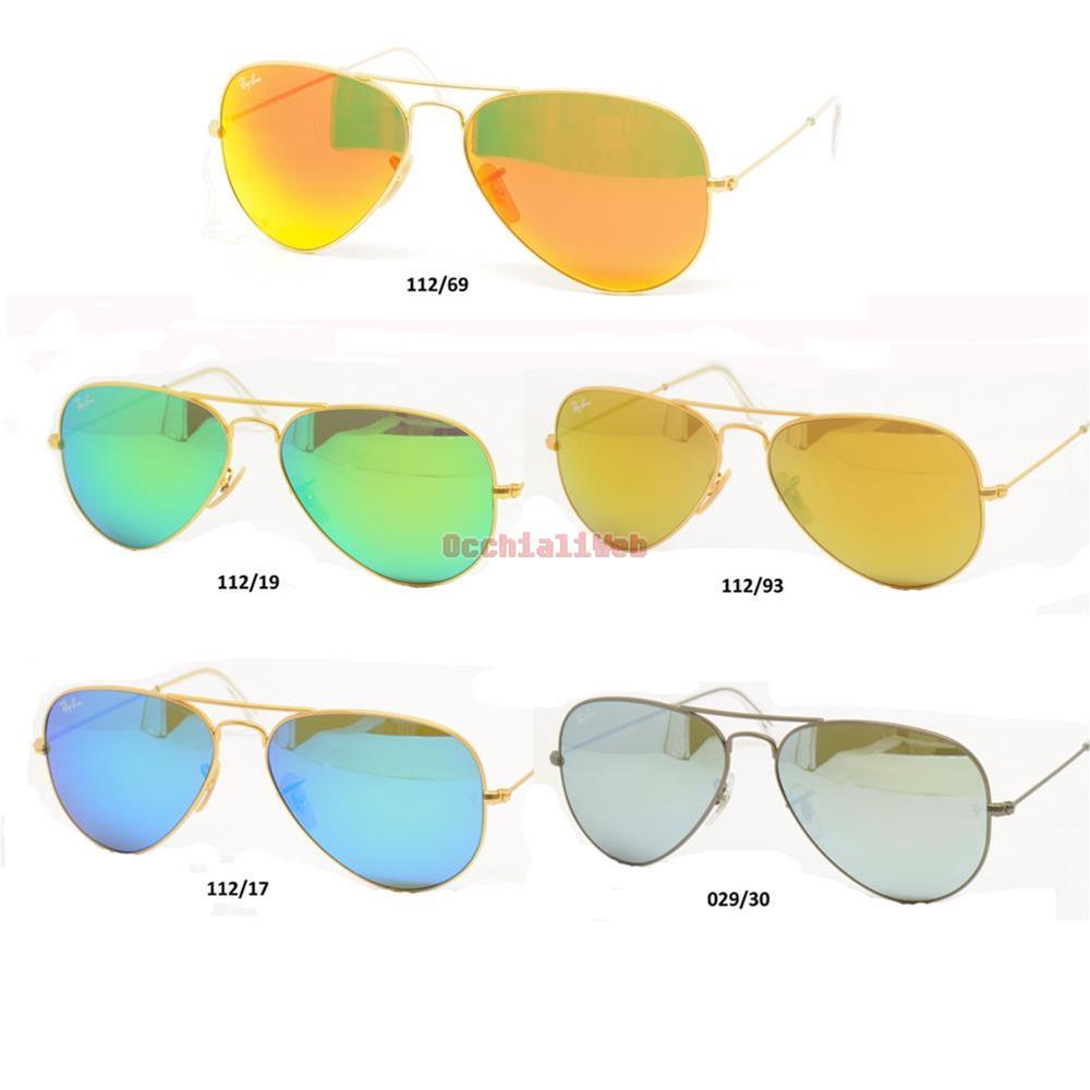 Ray ban aviator 3025 a goccia specchiati tutti i colori nuovi satinati ebay - Occhiali specchiati ray ban ...