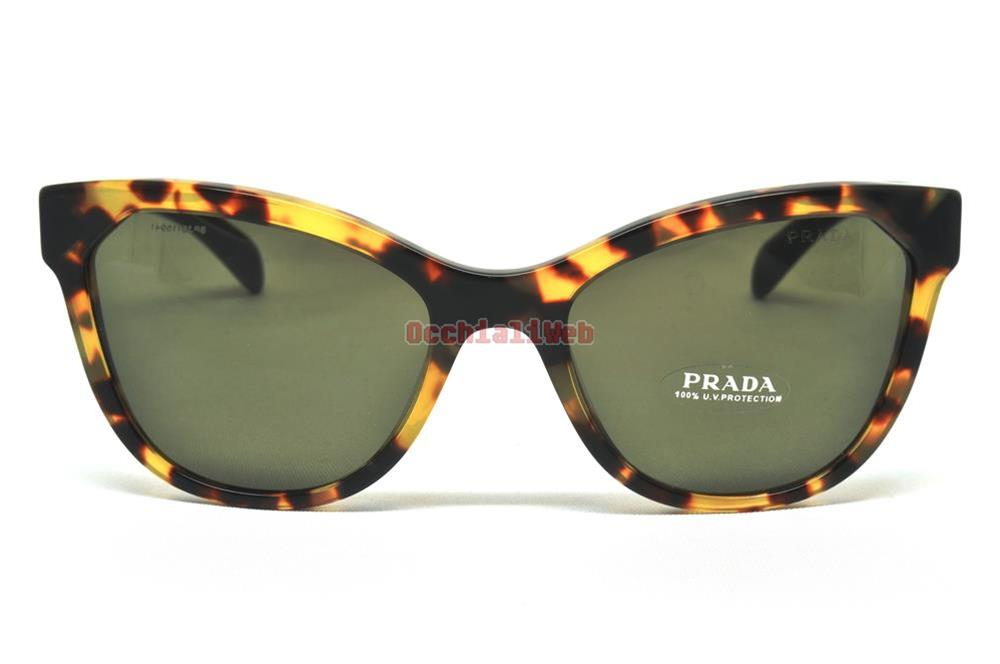 Prada Yellow Sunglasses  prada spr 21s col 7s0 5s2 cal 56 new sunglasses ebay