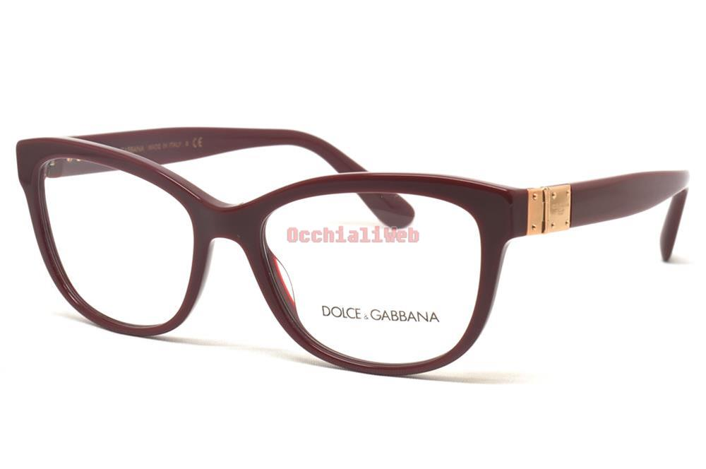 c3be399859 Dolce   Gabbana DG 3290 Col.3091 Cal.54 New EYEGLASSES-EYEWEAR
