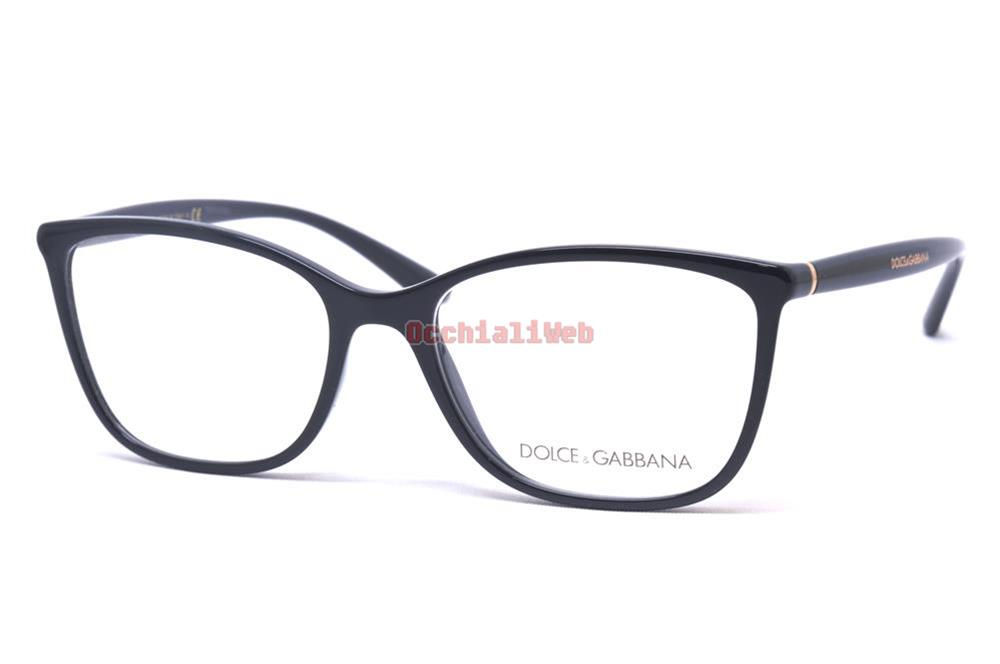 Dolce & Gabbana 5026 54 501 Polished Black Occhiale Vista Eyewear Nero