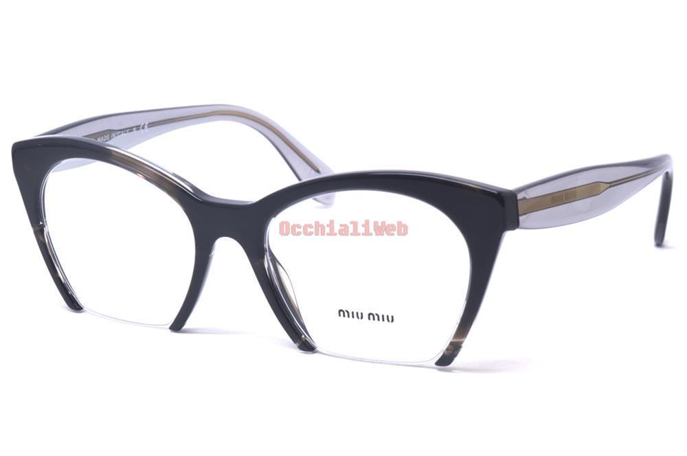 Miu Miu VMU 03Q Farbe H5X-1O1 kaliber 51 Neu BRILLE | eBay