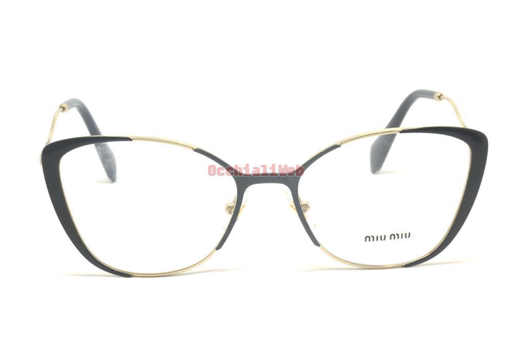 Miu Miu 51qv 53 Vyd1o1 Eyewear Pale Gold Grey Black Occhiale Vista Woman Donna pAFfPIp19