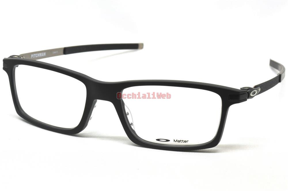 82183e4879 Details about Oakley OX 8050 PITCHMAN Col.01 Cal.53 New EYEGLASSES-EYEWEAR