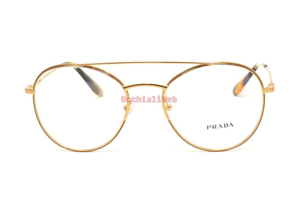 Prada 55uv 55u/v 51 7oe1o1 Journal Antique Gold Eyewear Occhiale Vista Gafas