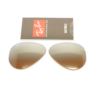 Lenti di ricambio aviator rb 3025 marroni specchio sfum brown shaded - Ray ban aviator lenti a specchio ...