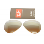 LENTI DI RICAMBIO AVIATOR RB 3025 CAL.55 MARRONI SPECCHIO SFUM., BROWN SHADED MIRROR
