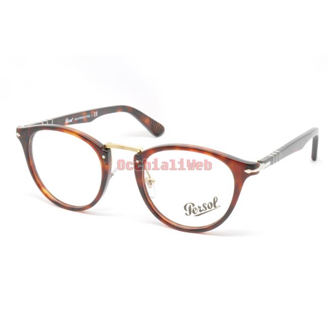 Persol 3007-V Col.24 Cal.50 New Occhiali da Vista-Eyeglasses-Lunettes-Brille uelC6