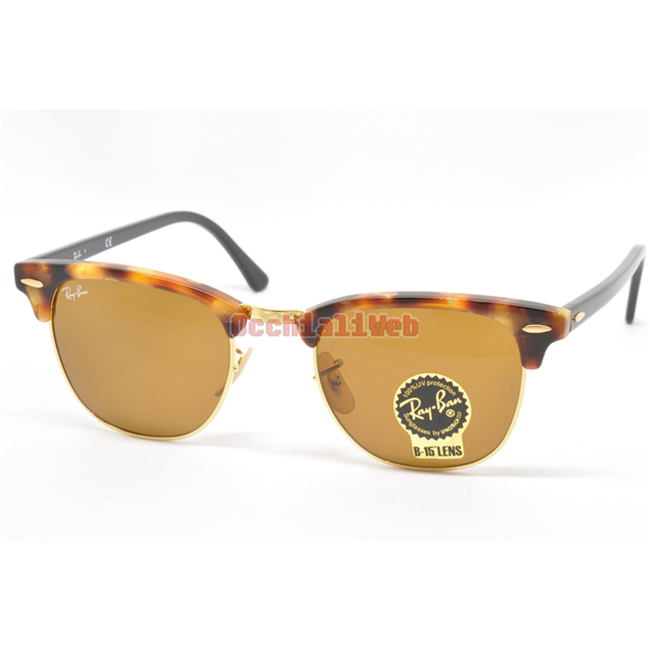 AUTHENTIC RAY BAN Rb 3016 M Clubmaster Wood 1180R5 51 21 3N