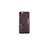 CUSTODIA-COVER IPHONE 6 IN PELLE MARRONE CON OCCHIALI DA VICINO +3.00