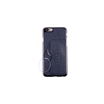 CUSTODIA-COVER IPHONE 6 IN PELLE BLU CON OCCHIALI DA VICINO +2.50