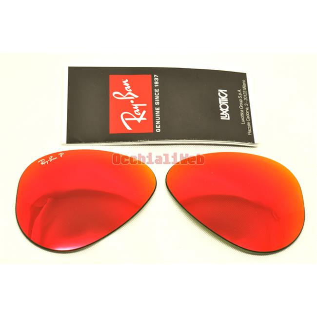 Lenti lens ray ban 3025 55 rosse - Specchio polarizzato ...