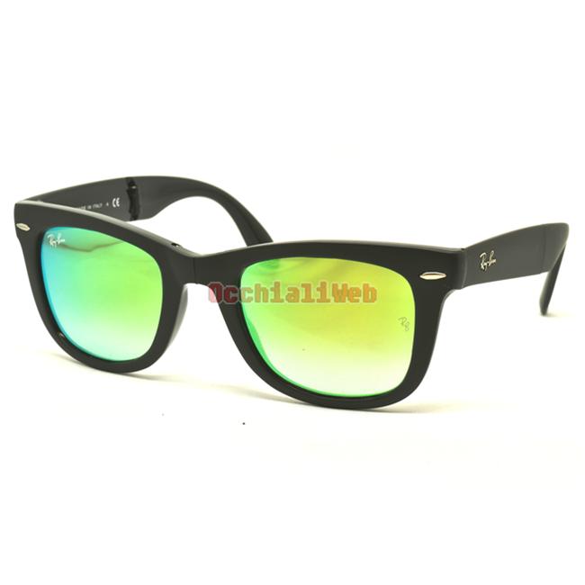 ffbea80ab ... authentic ray ban 4105 wayfarer folding col.60694j cal.50 new  sunglasses db39e 6e41c