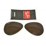 LENTI- LENS RAY-BAN 3025 58 MARRONI POLARIZZATE-POLAR BROWN COL.83