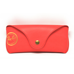 FODERO, CUSTODIA, ASTUCCIO RAY BAN , CASE BOX RAY BAN COLORE ROSSA ORIGINALE 100%