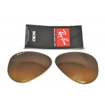 LENTI- LENS RAY-BAN 3025 58 MARRONI SFUMATE POLARIZZATE-BROWN SHADED POLAR COL.M2