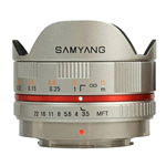 Obiettivo Samyang 7.5mm 1:3.5 UMC Fish-eye MFT Silver (M4/3)