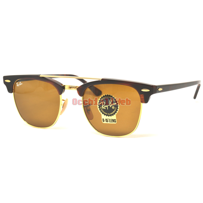 6fc960bbee2 Occhialiweb.com  Ray-Ban RB 3816 CLUBMASTER DOUBLEBRIDGE Col.990 33 ...