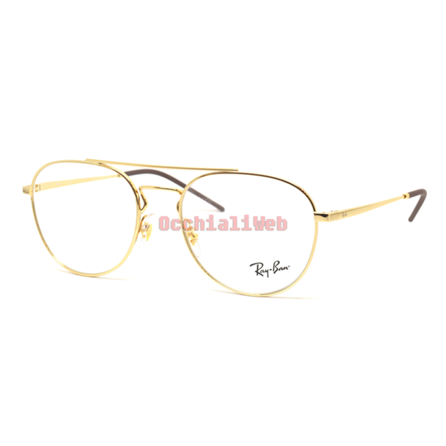 Occhiali da Vista Ray-Ban RX 6414 GOLD unisex a3ikm