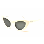 Saint Laurent SL 213 LILY Col.005 ivory ivory grey Cal.52 New Occhiali da Sole-Sunglasses