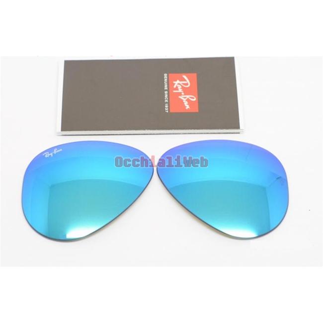 1bd564ecfab4a Occhialiweb.com  LENTI RAYBAN 3025 55 MIRROR BLUE - RAY-BAN