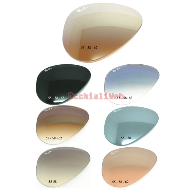 550487bb9e LENTI- LENS RAY-BAN REPLACEMENT AVIATOR LENS RB 3025-3138-3407-3030 NEW